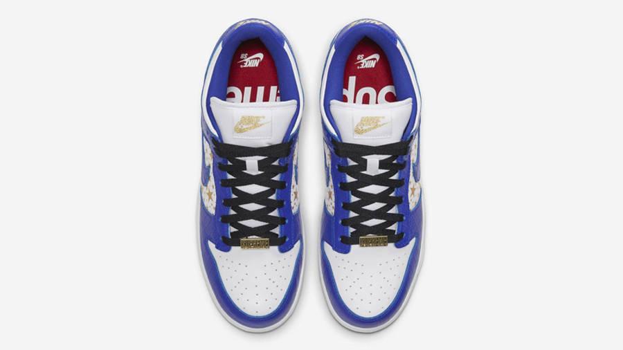 Supreme x Nike SB Dunk Low Stars Hyper Blue Middle
