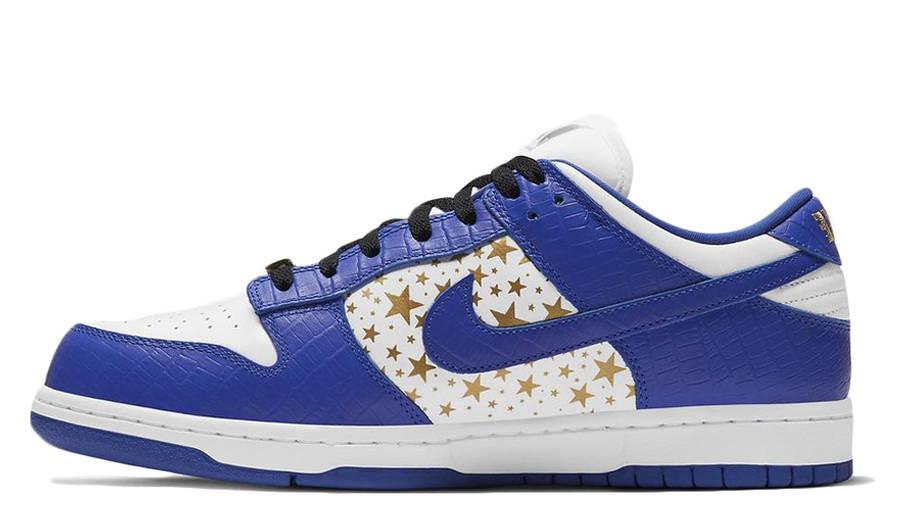 Supreme x Nike SB Dunk Low Stars Hyper Blue