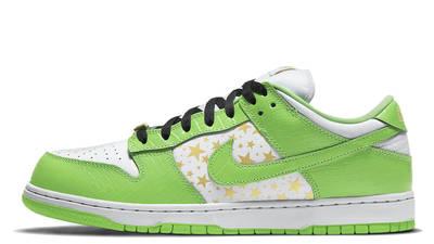 Supreme x Nike SB Dunk Low Stars Mean Green