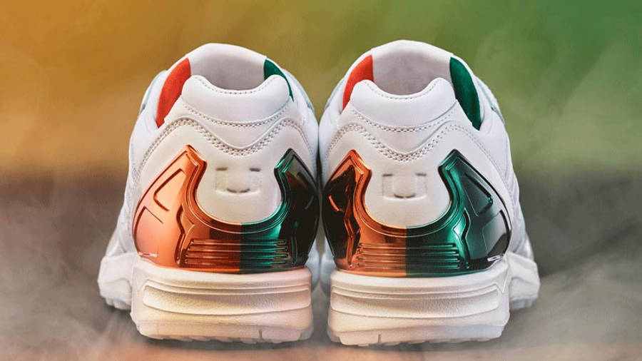 University of Miami x adidas ZX 5000 White In Colours Back