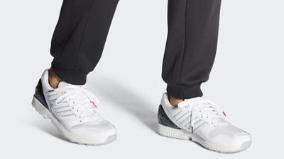 University of Miami x adidas ZX 5000 White On Foot