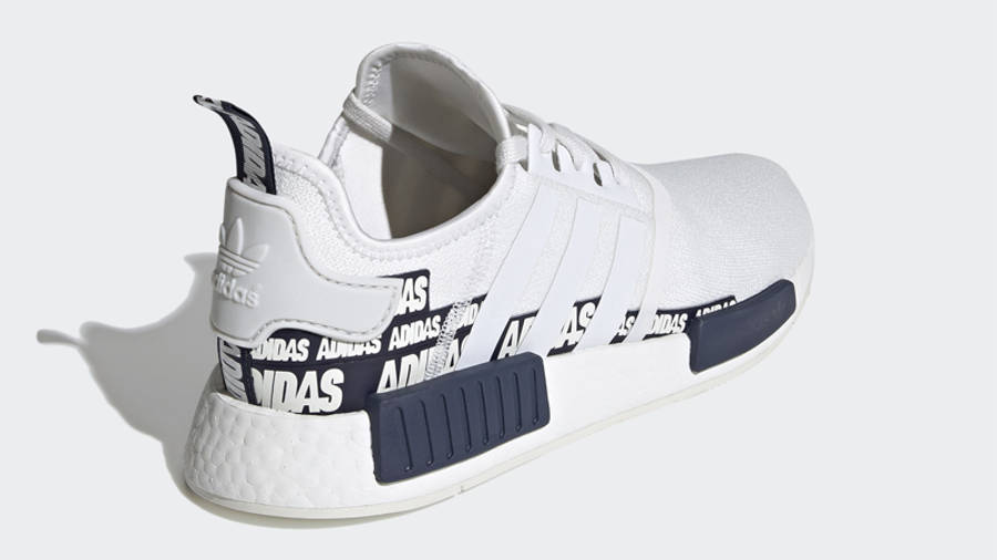 adidas NMD R1 V2 Overbranded Crystal White Navy Back