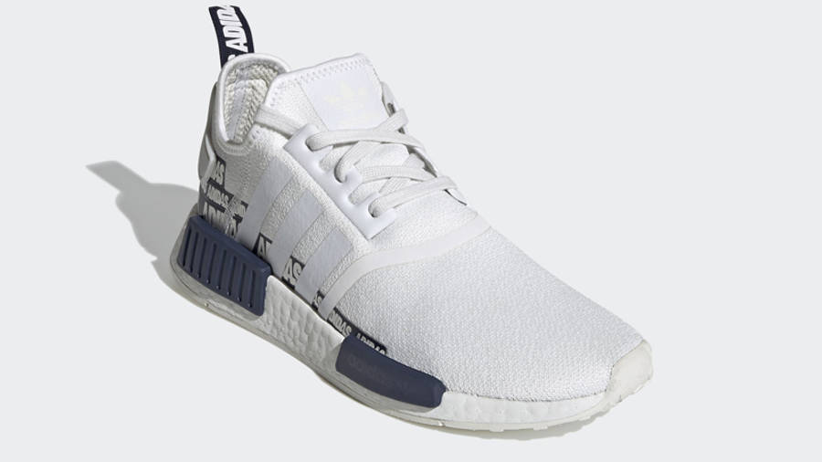 adidas NMD R1 V2 Overbranded Crystal White Navy Front