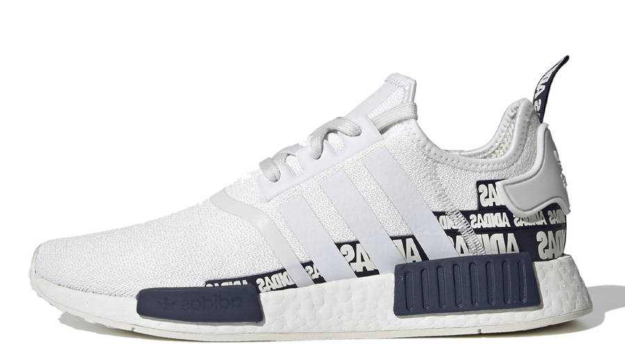 adidas NMD R1 V2 Overbranded Crystal White Navy