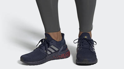 adidas Ultra Boost 20 Collegiate Navy On Foot
