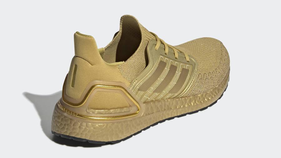 adidas Ultra Boost 20 Gold Metallic Back