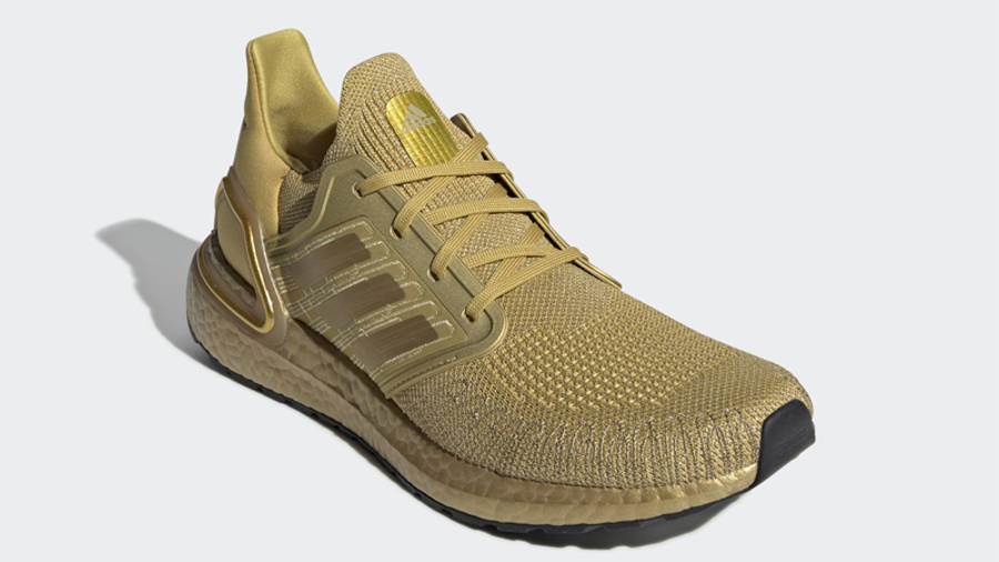 adidas Ultra Boost 20 Gold Metallic Front
