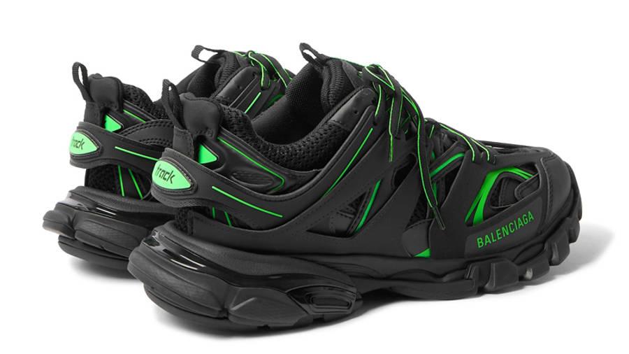 Balenciaga Track Black Neon Green Back