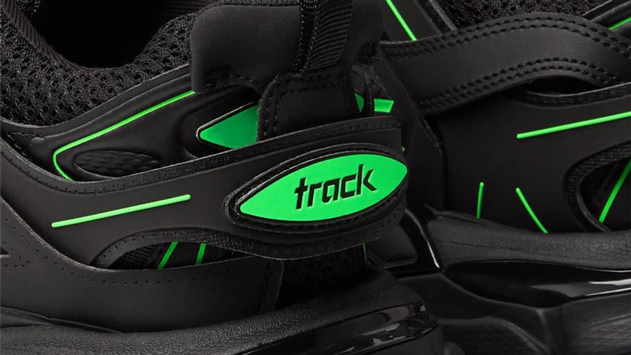 Balenciaga Track Black Neon Green Closeup