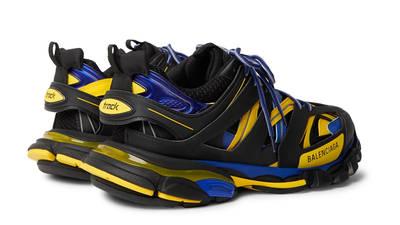 Balenciaga Track Black Yellow Blue Back