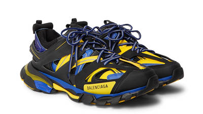 Balenciaga Track Black Yellow Blue Front