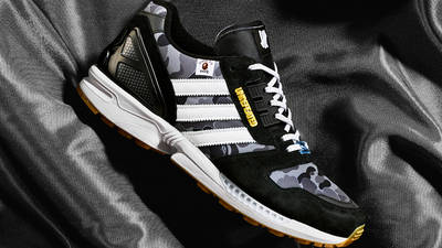 BAPE x Undefeated x adidas ZX 8000 Black Gum First Look Side