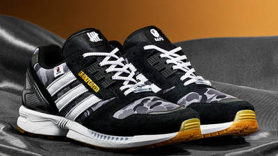 BAPE x Undefeated x adidas ZX 8000 Black Gum First Look