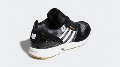 BAPE x Undefeated x adidas ZX 8000 Black Gum FY8852 back