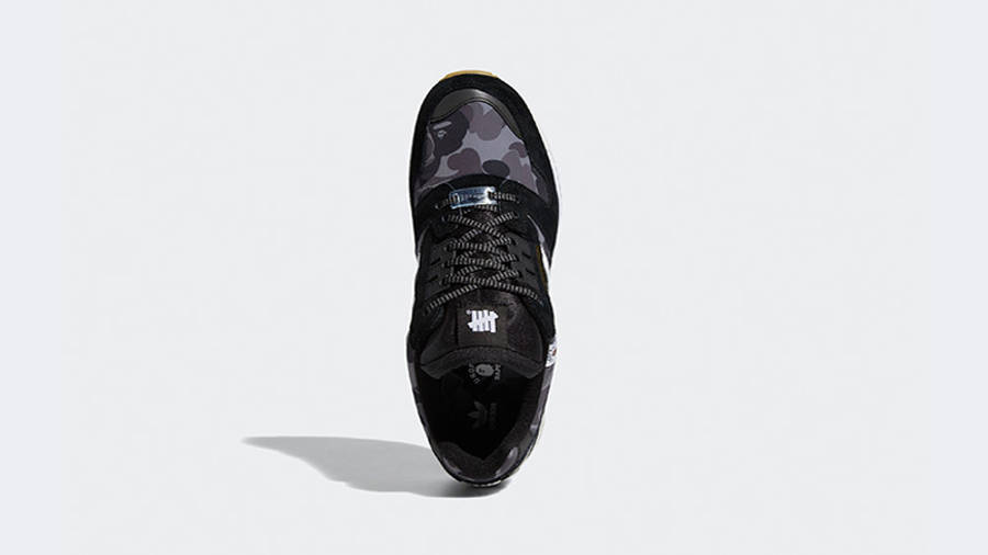BAPE x Undefeated x adidas ZX 8000 Black Gum FY8852 middle