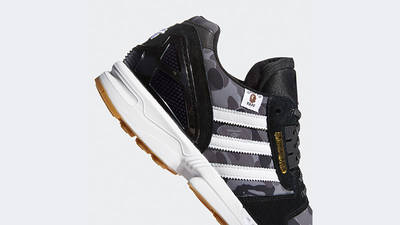 BAPE x Undefeated x adidas ZX 8000 Black Gum FY8852 side