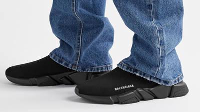 Black Speed Stretch Knit Black On Foot