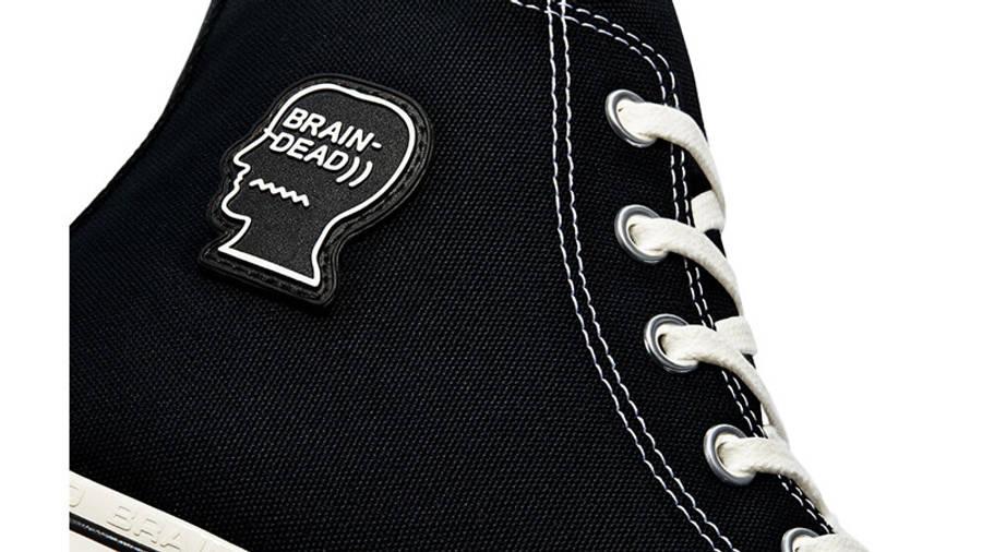 Brain Dead x Converse Chuck 70 High Black Egret Closeup