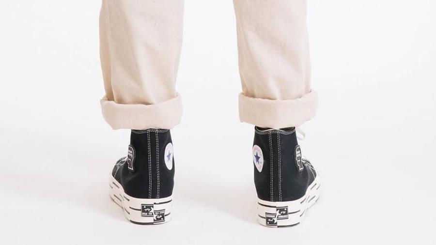 Brain Dead x Converse Chuck 70 High Black Egret On Foot Back