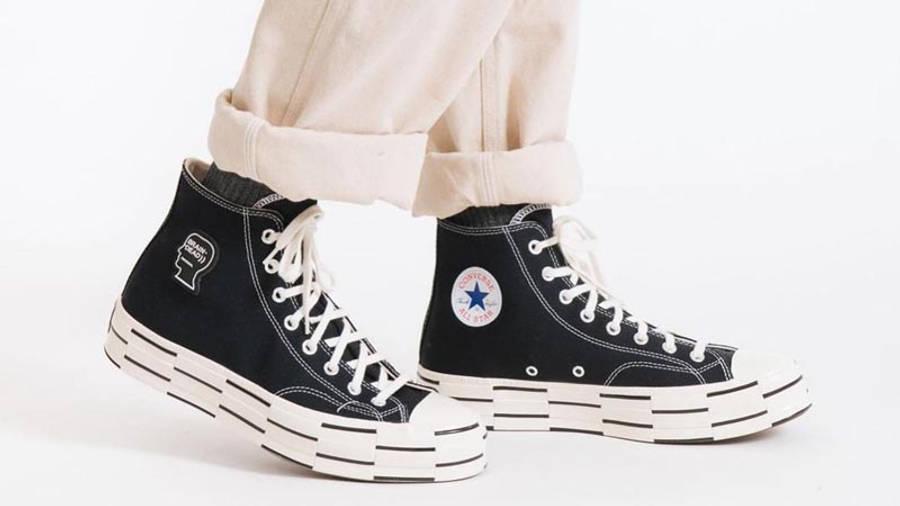 Brain Dead x Converse Chuck 70 High Black Egret On Foot