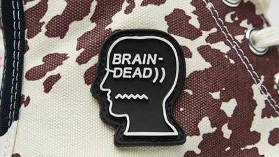 Brain Dead x Converse Chuck 70 High Egret Brown Closeup