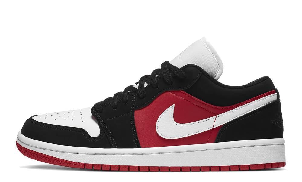 Jordan 1 Low Black White Gym Red