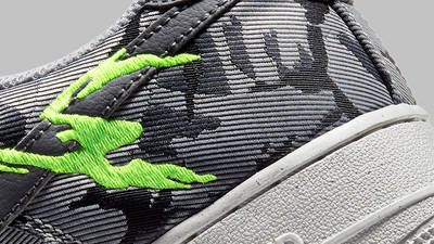 Nike Air Force 1 07 LX Light Smoke Grey Closeup