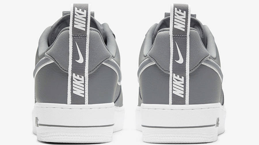 Nike Air Force 1 Grey White Stitch DH2472-002 back
