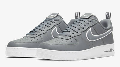 Nike Air Force 1 Grey White Stitch DH2472-002 front