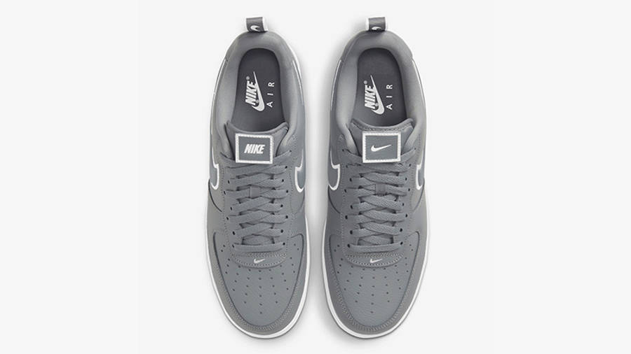 Nike Air Force 1 Grey White Stitch DH2472-002 middle
