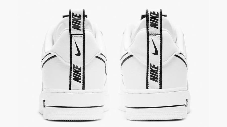 Nike Air Force 1 White Black Back