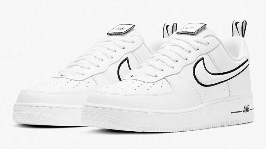 Nike Air Force 1 White Black Stitch DH2472-100 front