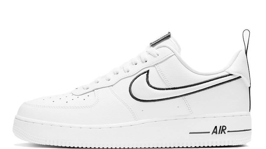 Nike Air Force 1 White Black Stitch DH2472-100