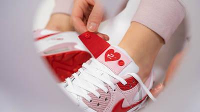 Nike Air Max 90 QS Valentines Day 2021 On Foot Closeup