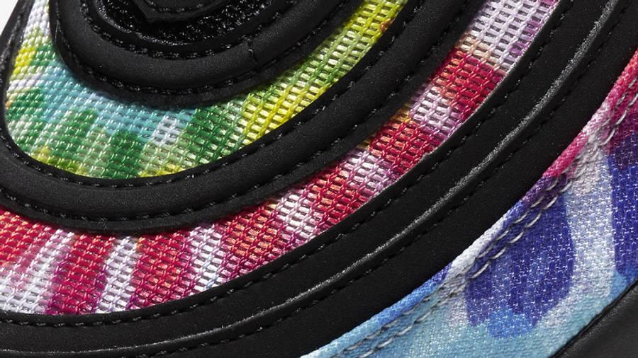 Nike Air Max 97 Golf Black Tie Dye Closeup