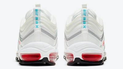 Nike Air Max 97 White Aqua Blue Red Back