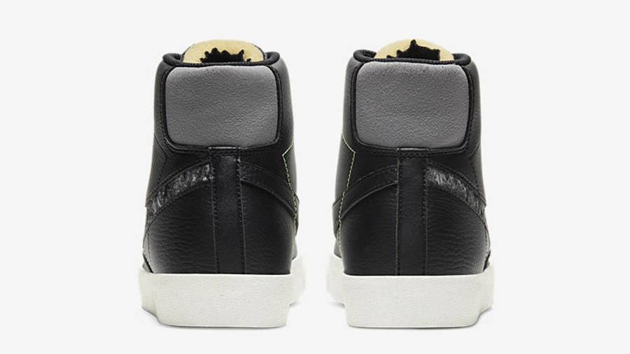 Nike Blazer Mid 77 Vintage Black Smoke Grey Back