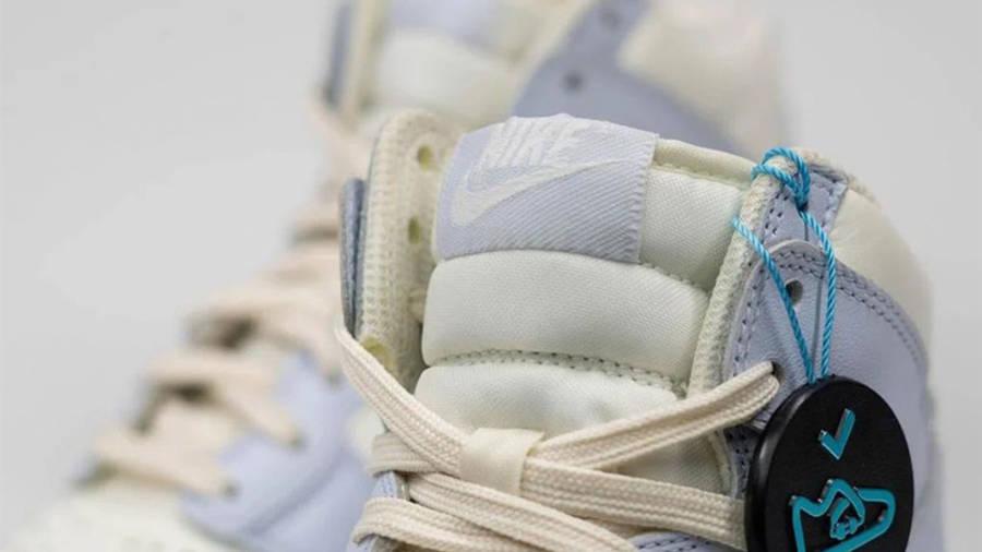 Nike Dunk High Football Grey Closeup