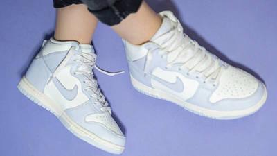 Nike Dunk High Football Grey On Foot Top