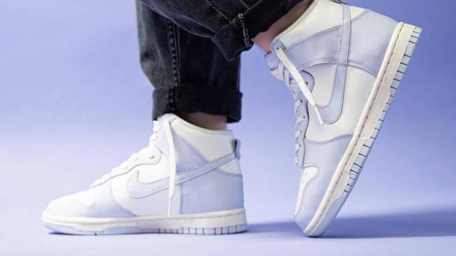 Nike Dunk High Football Grey On Foot