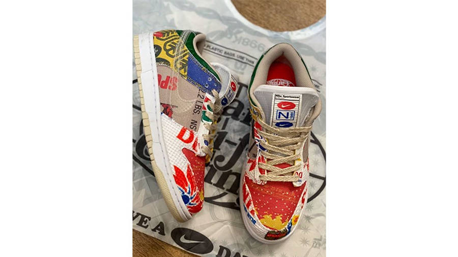 Nike Dunk Low Thank You For Caring DA6125-900 from top