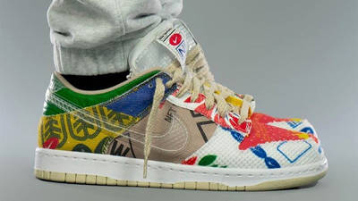 Nike Dunk Low Thank You For Caring On Foot