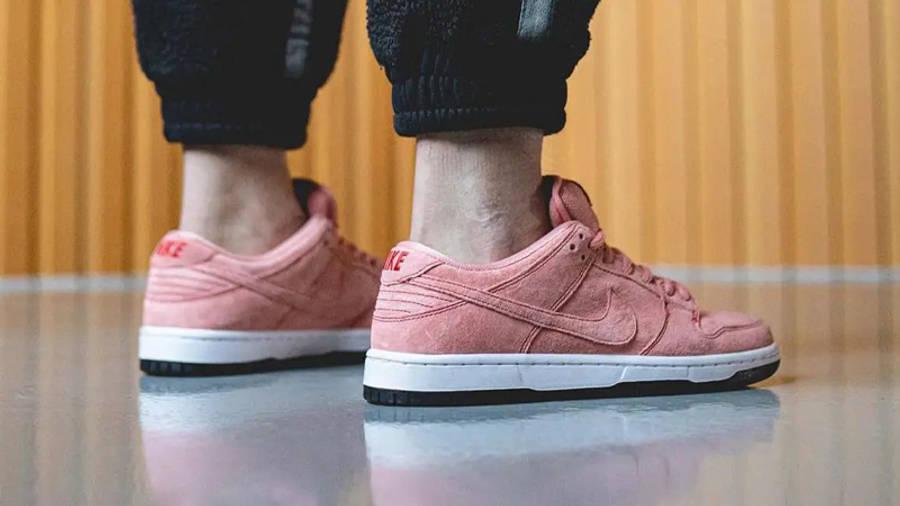 Nike SB Dunk Low Pink Pig On Foot Back Side