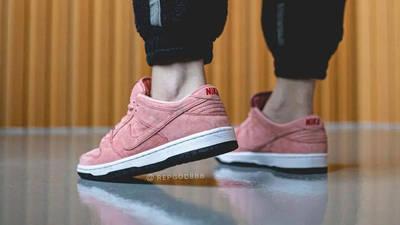 Nike SB Dunk Low Pink Pig On Foot Back