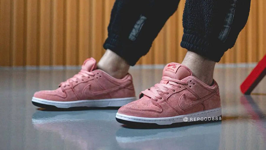 Nike SB Dunk Low Pink Pig On Foot Front Side