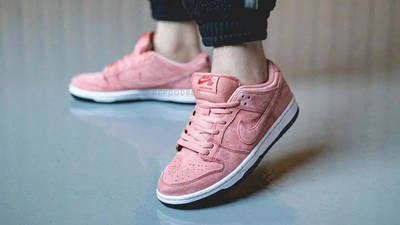 Nike SB Dunk Low Pink Pig On Foot Front