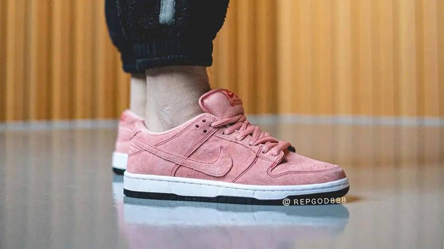 Nike SB Dunk Low Pink Pig On Foot Side