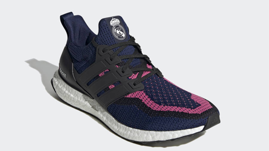 Real Madrid x adidas Ultra Boost DNA Blue Black Front