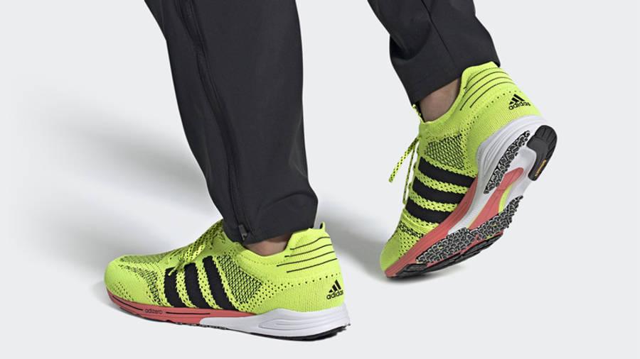 adidas Adizero Prime Solar Yellow On Foot