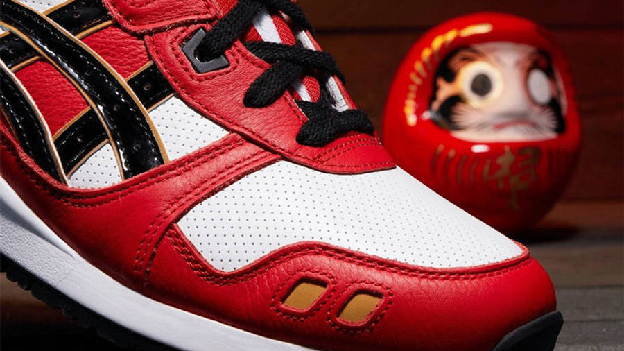 ASICS GEL-Lyte 3 Daruma Classic Red Black First Look Front